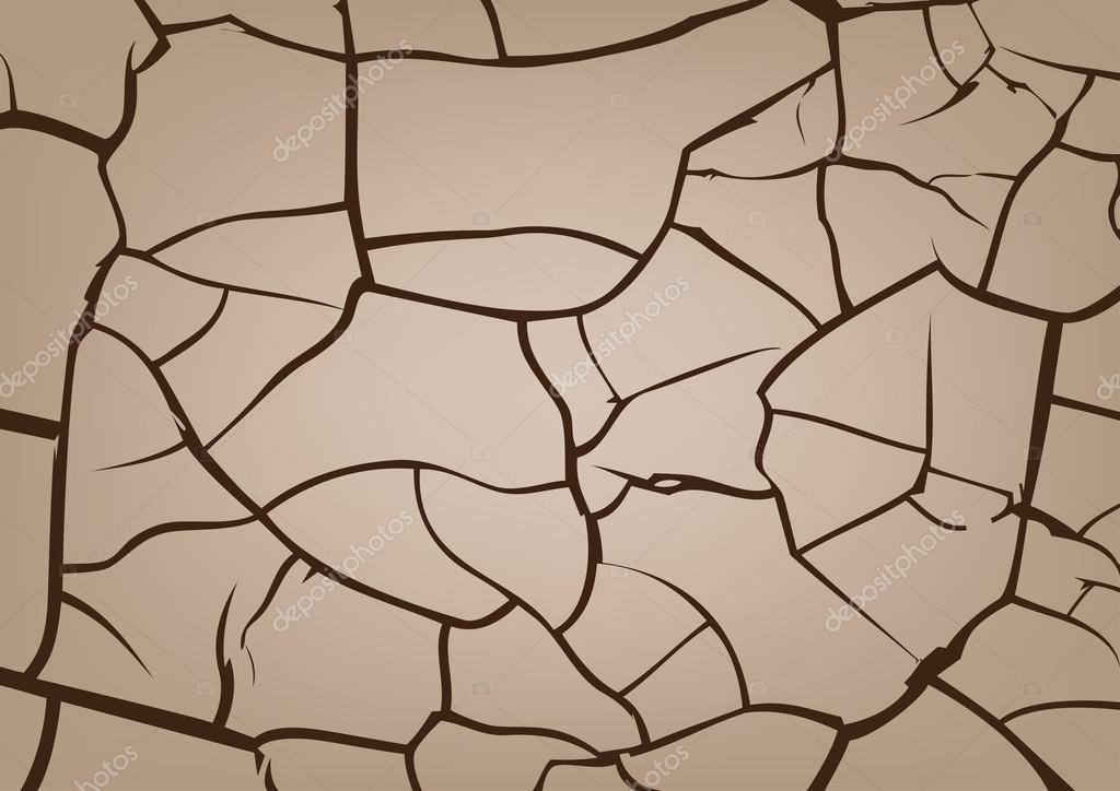Cracked earth background, vector texture