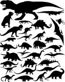 Photo dinosaur silhouettes