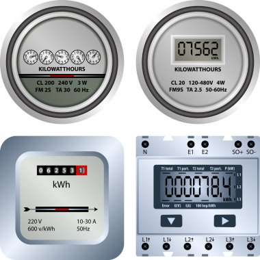 Electric meter stock vector