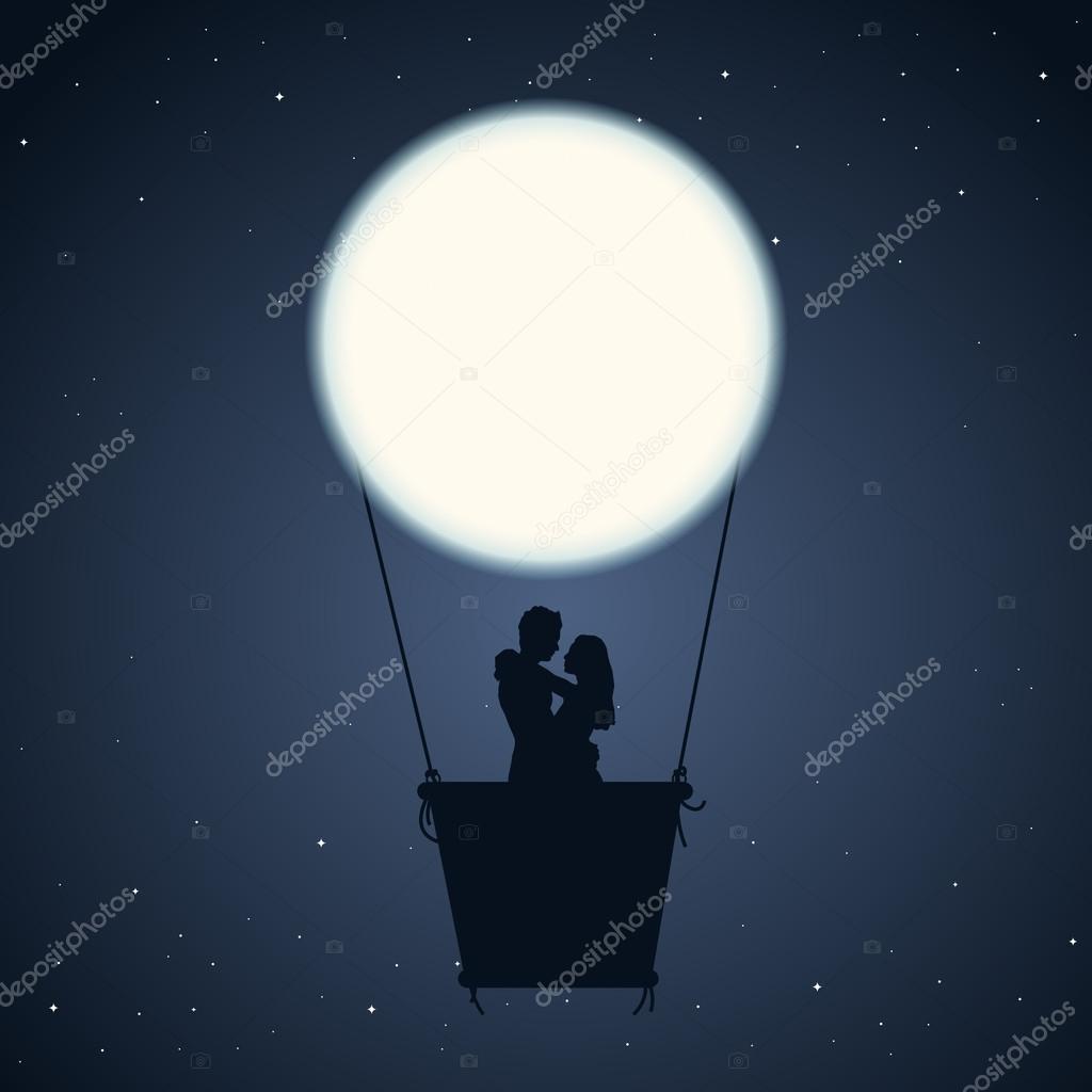 Nuit romantique image vectorielle herminutomo 14172356 for Nuit romantique