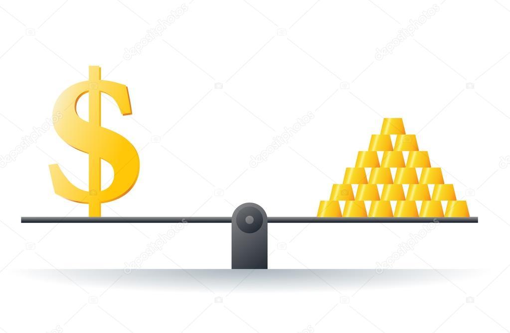 Gold Price Stock Vector Herminutomo 15356013