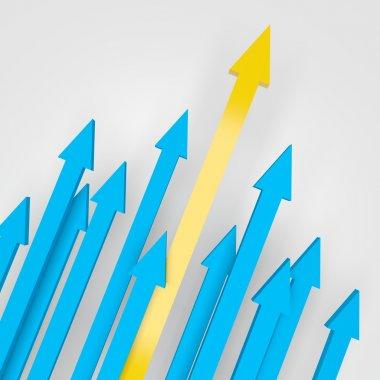 Arrows Going Upward