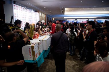 Japan Anime Stars at Autograph Session in Anime Festival Asia -