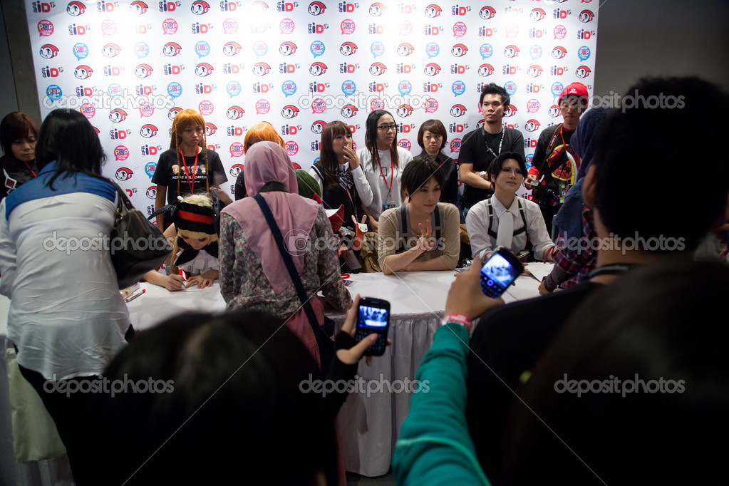 Japan Anime Stars At Autograph Session In Festival Asia