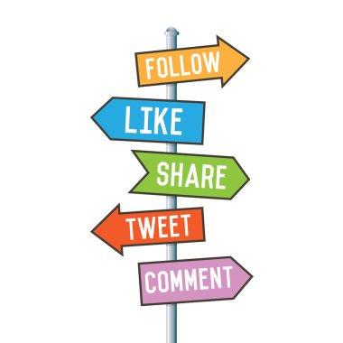 Social Media Arrow Signs