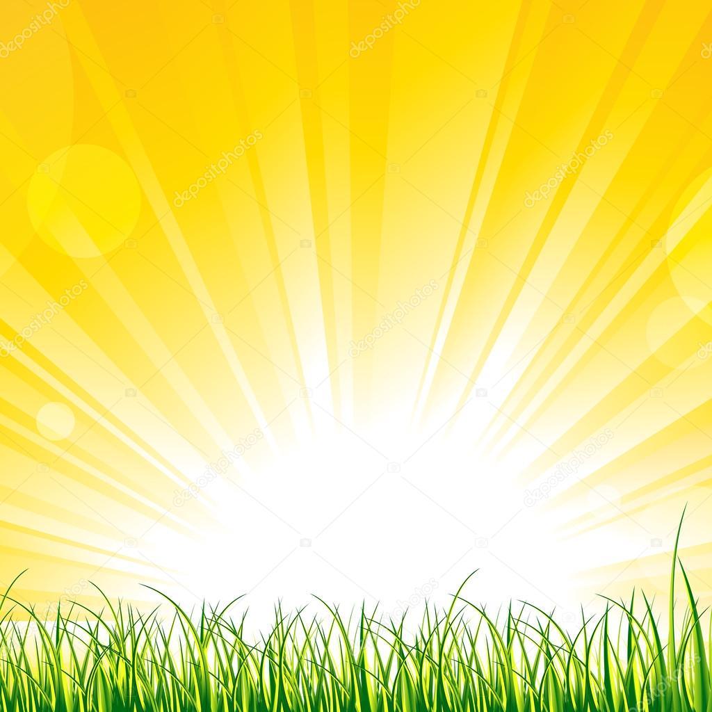 солнце с лучами картинка