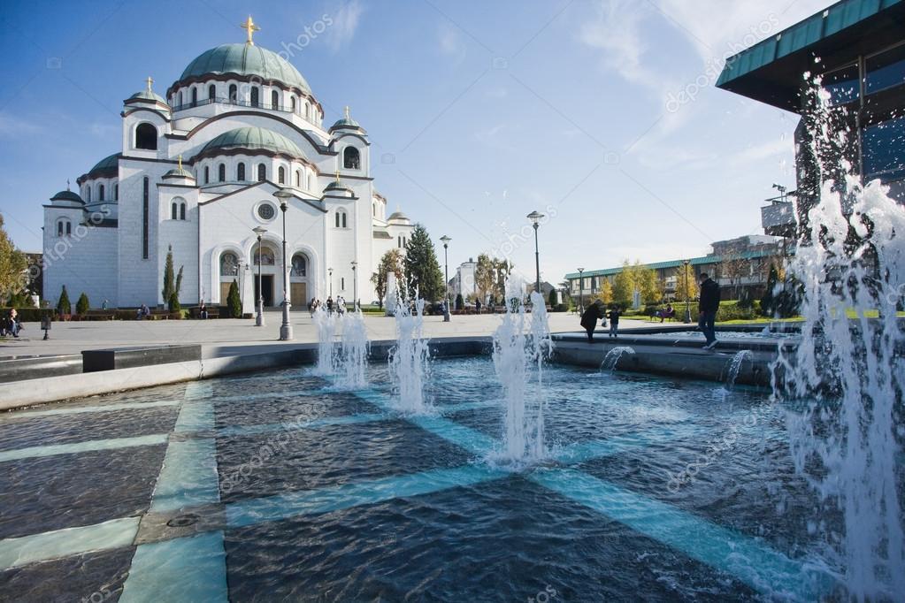 Εκκλησία του Αγίου Σάββα στο Βελιγράδι — Φωτογραφία Αρχείου