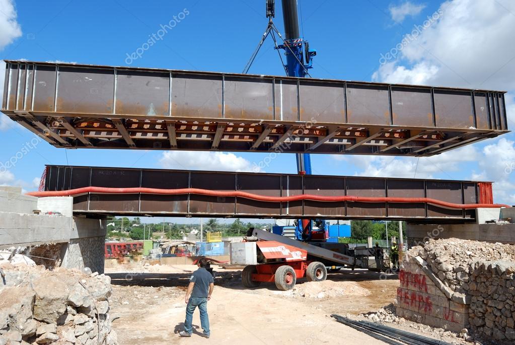 Brug constructie corten staal kranen u2014 stockfoto © ba peuceta #17608837
