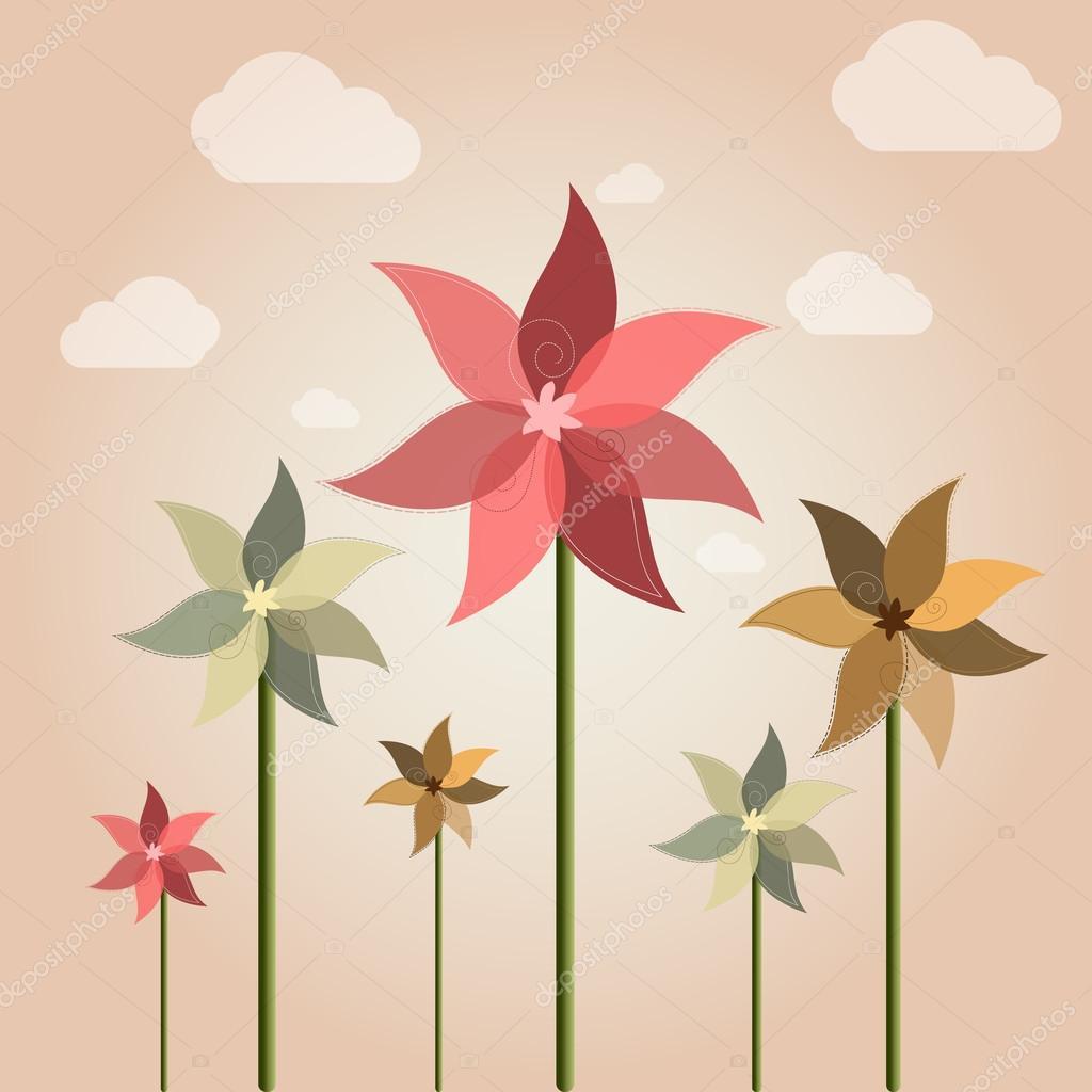 Weather vane flower