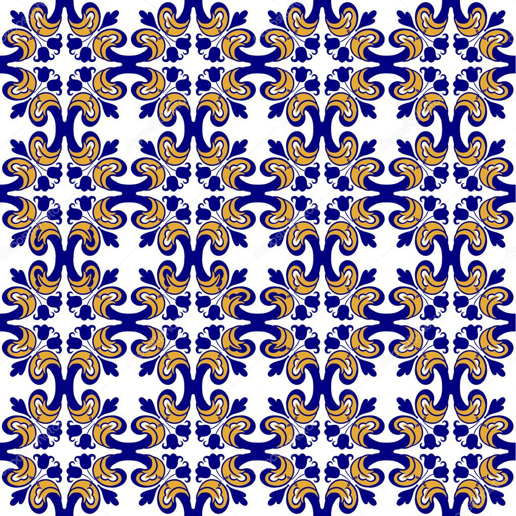 Azulejos antiguos florales archivo im genes vectoriales - Azulejos clasicos ...