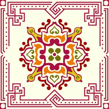 Seamless ornament tile