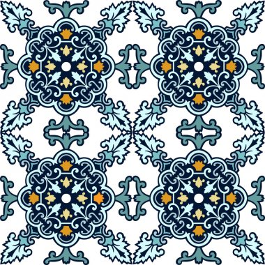 Seamless classic ornament tiles