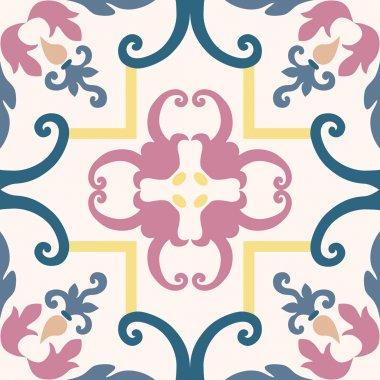 Beautiful seamless ornamental tile background vector illustration clip art vector