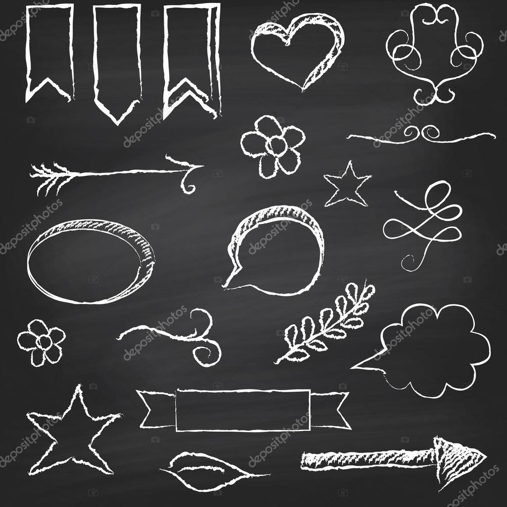 chalkboard with several elements stock vector anamomarques 49270639