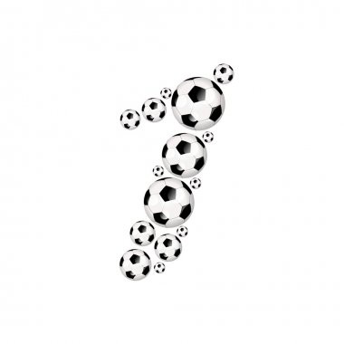 Soccer football sports number