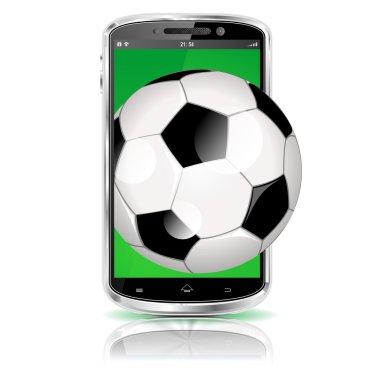 smartphone soccer symbol
