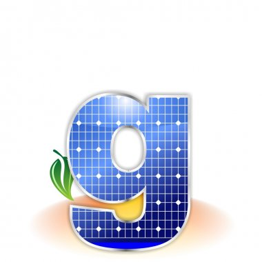 Solar panels texture, alphabet lowercase letter g icon or symbol