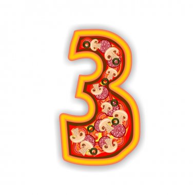 PIZZA alphabet - number 3