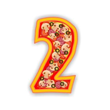 PIZZA alphabet - number 2