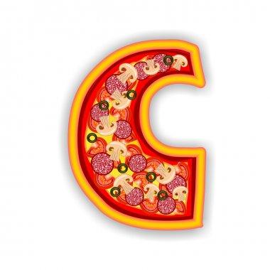 PIZZA alphabet - LETTER C