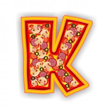 PIZZA alphabet - LETTER K
