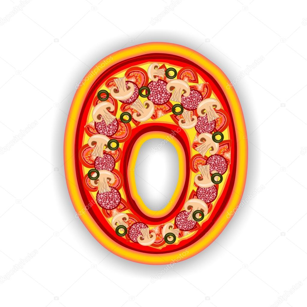 Pizza Alphabet Letter O Stock Photo Multicanarias 28077909