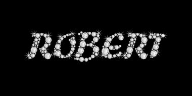 The name ROBERT in bling diamonds font style word