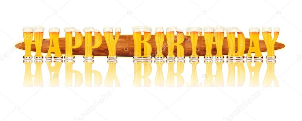 Bier Alfabet Letters Gelukkige Verjaardag Stockfoto