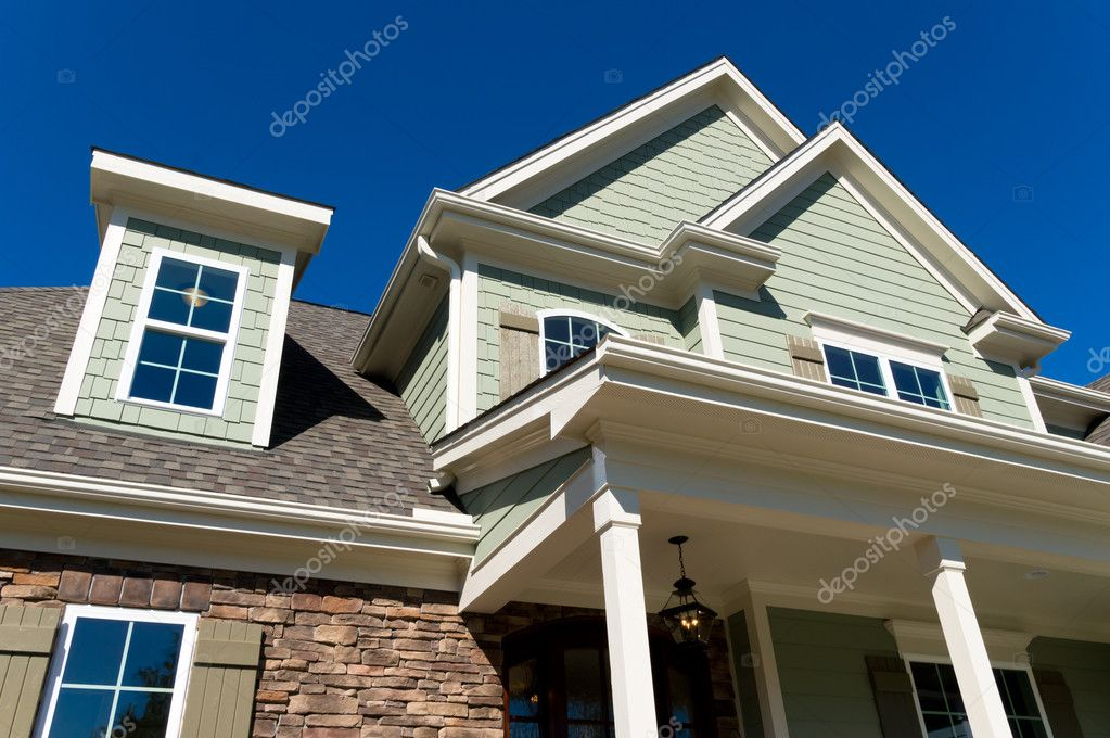 Large residential house exterior details