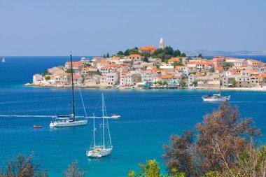 Panoramic views of the croatian coast, Primosten near Sibenik, Croatia