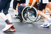 Fotografie Disabled athlete in a sport wheelchair