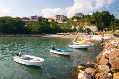 Beach on the Black Sea in Bulgaria, Nesebar stock vector