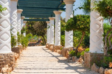 architecture of Kalithea Thermes, Rhodes island