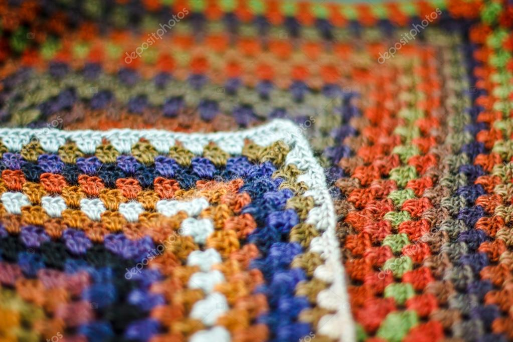 ganchillo hecho a mano afgano multicolor manta de cuadros de la ...