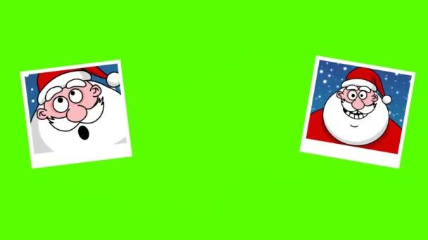 cornici per foto con Babbo Natale. schermo verde