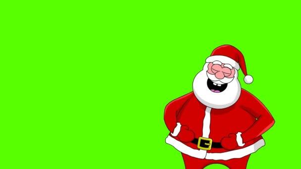 legrační smích santa claus. zelená obrazovka