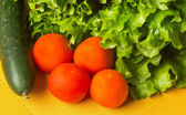 Salát hlávkový salát a rajčata