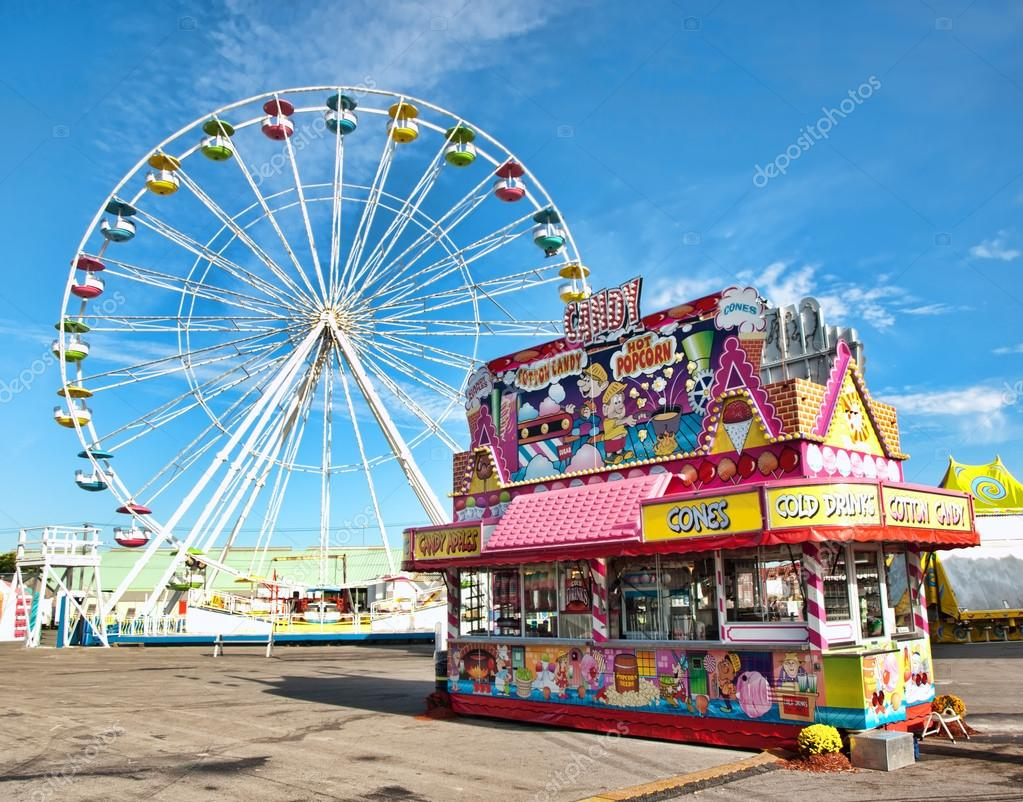 amusement park midway
