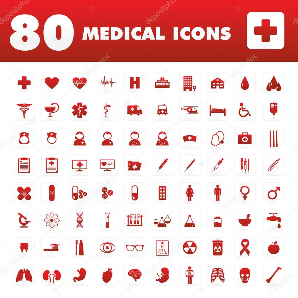 80 Medical icons