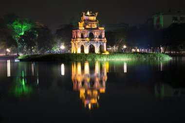 Turtle Tower at night.