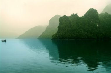 Islands in the morning mist.