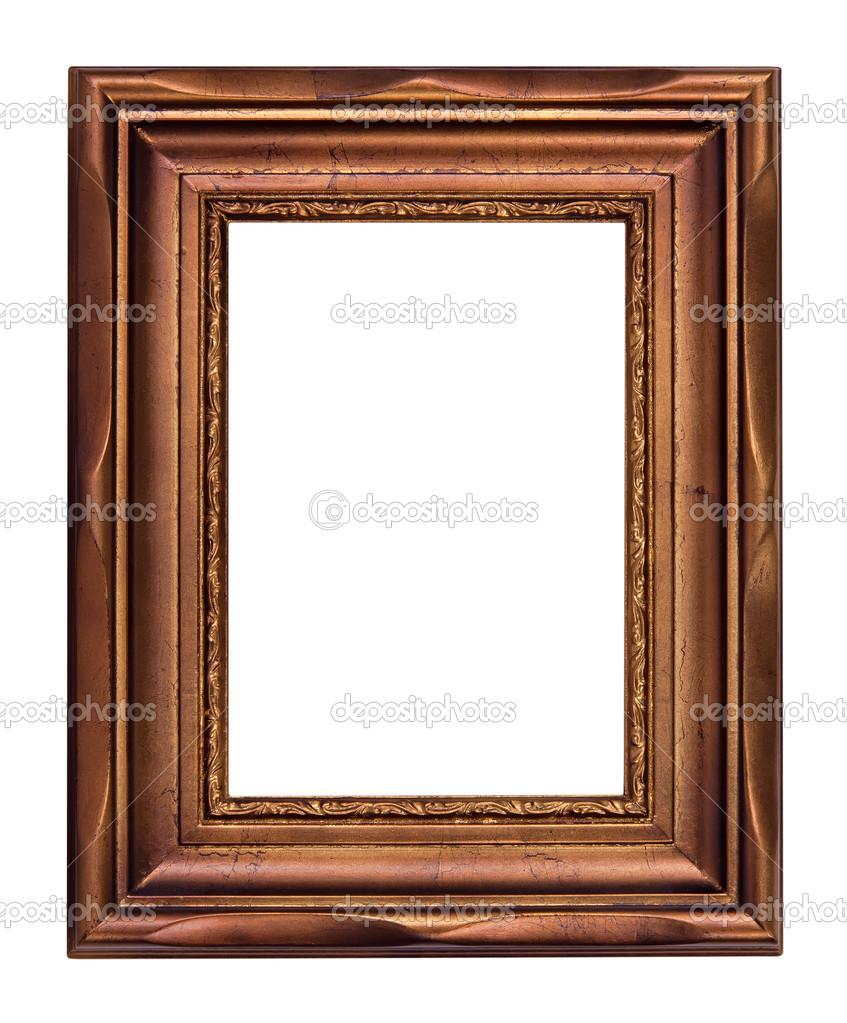 Vintage Bronze Bilderrahmen, isoliert — Stockfoto © krisrobin #21698941