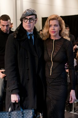 NEW YORK, NY - FEBRUARY 16: Patrick McDonald and Debby Dickinson attend the Stephen Burrows Fall 2012 fashion show during Mercedes-Benz Fashion Week at the Audi Forum on February 16, 2012 in NY