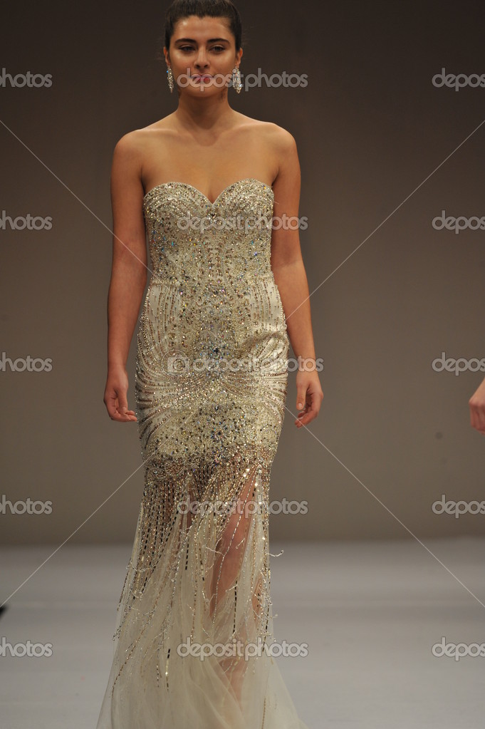 d09b77f332b0 NEW YORK- OCTOBER 14: Models walks runway for Terani Couture Bridal  collection at Pier