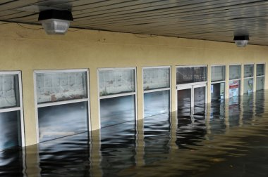 Seriouse flooding in the buildings at the Sheapsheadbay neighborhood due to impact from Hurricane Sandy