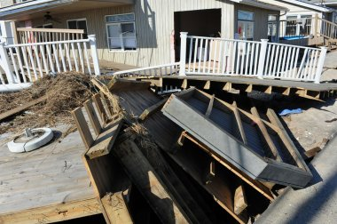 NEW YORK, NY - NOVEMBER 09: Scenes of Hurricane Sandy's aftermath in the Breezy Point part of Far Rockawayon November 9, 2012 in the Queens borough of New York City.