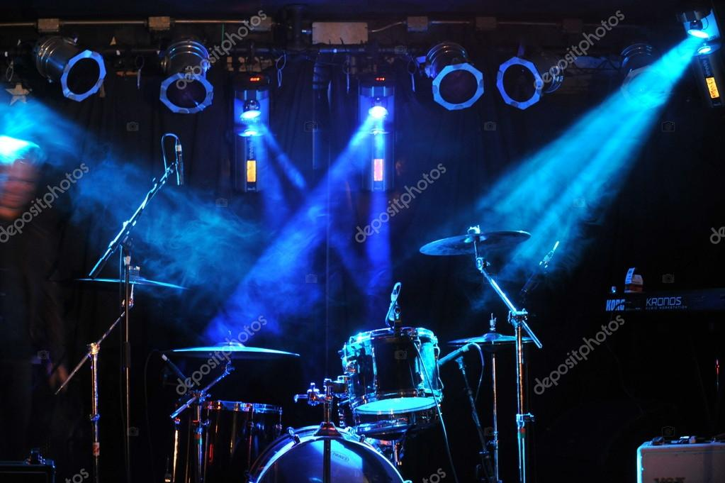 NEW YORK- FEBRUARY 27: Stage setup during Russian Rock Festival at Webster Hall on February 27, 2013 in NYC