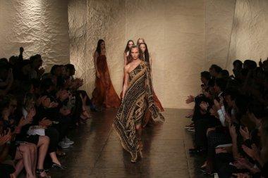 Models walk at Donna Karan fashion show