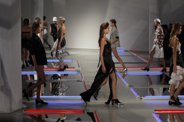 Models walk the runway at Rodarte show