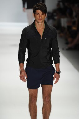 Model at Nautica Men's fashion show